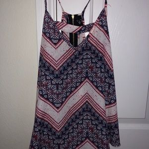 Windsor Red and Blue Patterned Chiffon Top